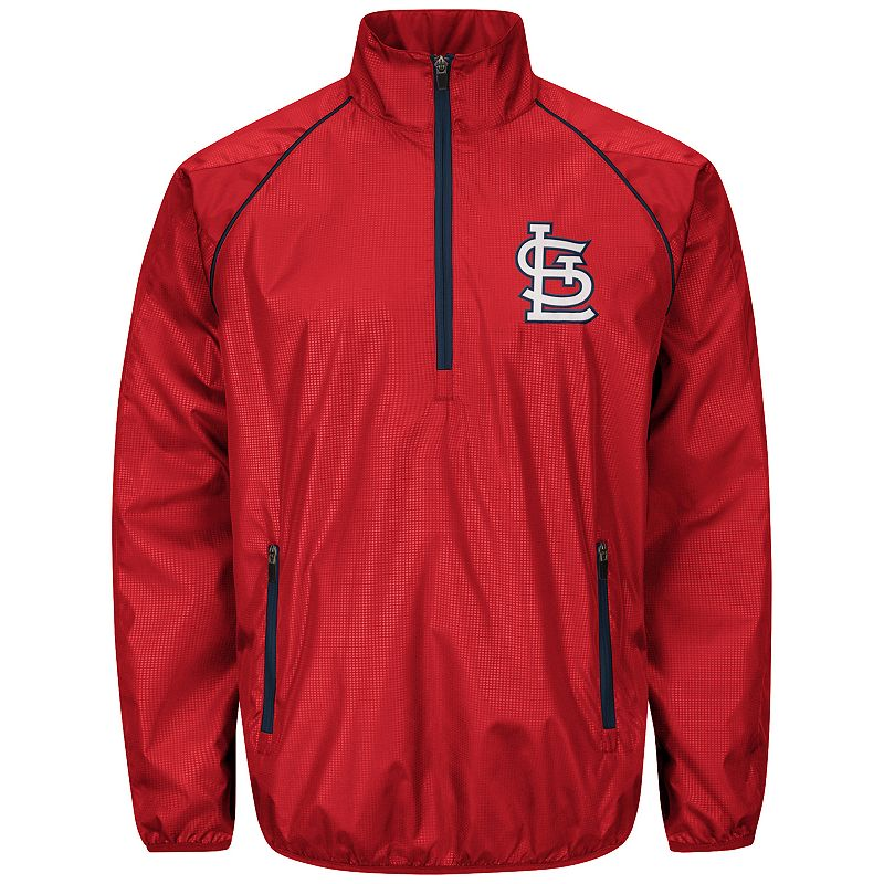 Men's St. Louis Cardinals Player Lightweight Pullover Jacket