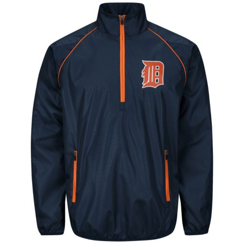 Men's Detroit Tigers Player Lightweight Pullover Jacket