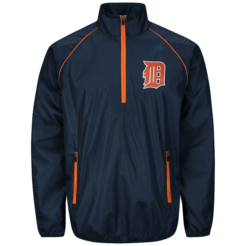 Men's Detroit Tigers Player Lightweight Pullover Jacket