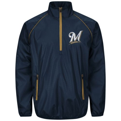 Men's Milwaukee Brewers Player Lightweight Pullover Jacket