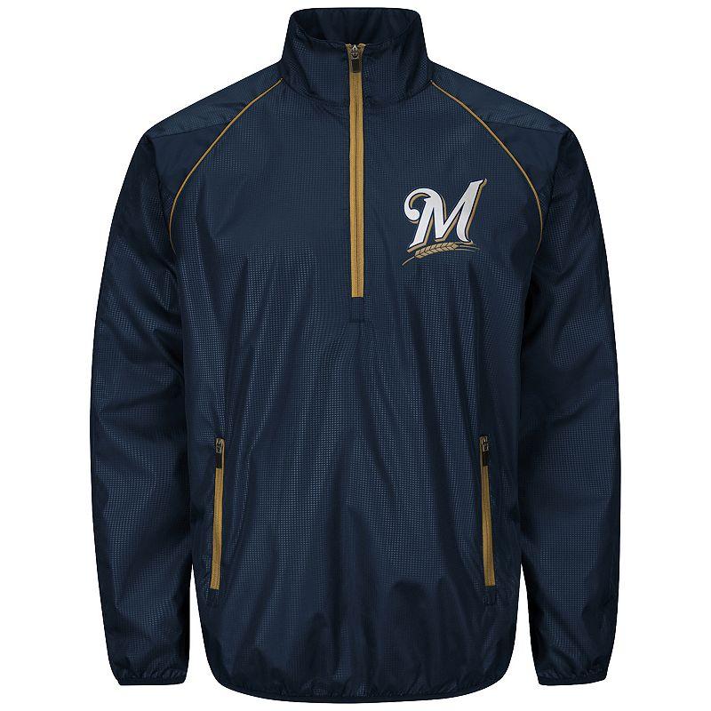 Men's Milwaukee Brewers Player Lightweight Pullover Jacket