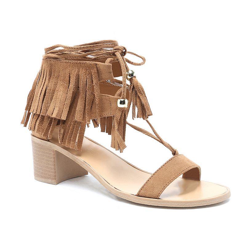 Qupid Kirby Women's Chunky Heel Sandals
