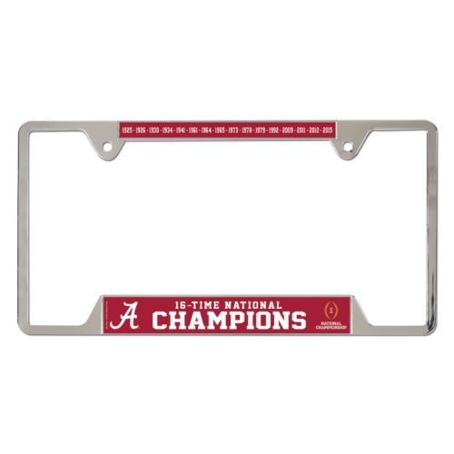 Alabama Crimson Tide 2015 National Champions License Plate Frame