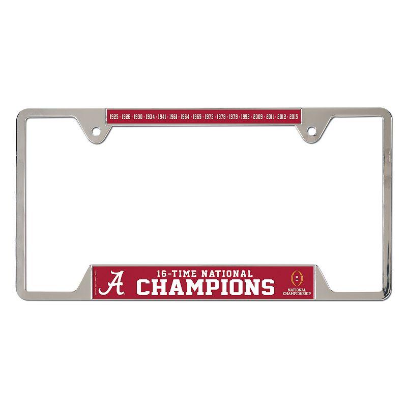 Alabama Crimson Tide 2015 National Champions License Plate Frame