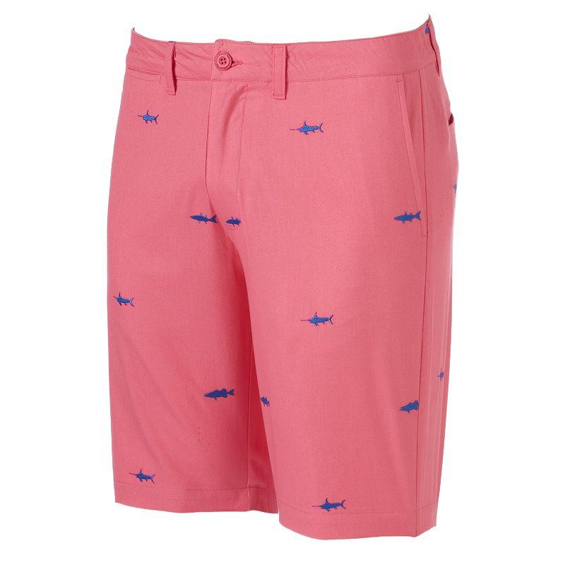 Men's Caribbean Joe Fish Embroidered Club Shorts