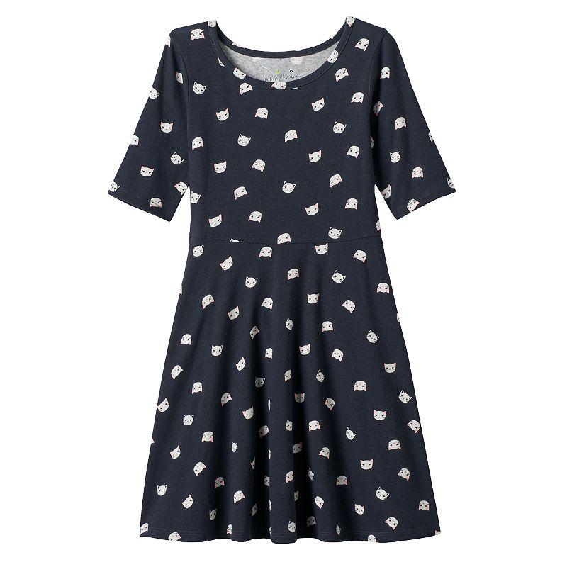 Girls 4-7 Jumping Beans® Printed Skater Dress
