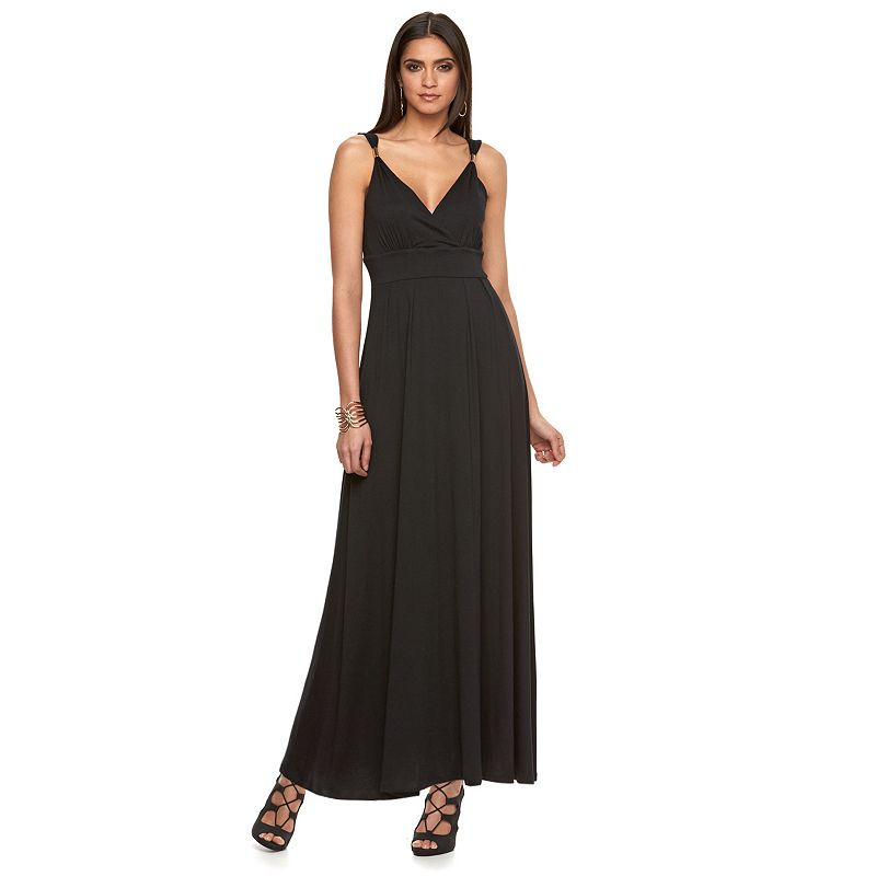 Petite Jennifer Lopez Empire Maxi Dress