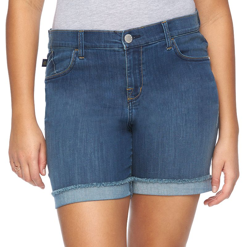 Plus Size Rock & Republic® Bumpershoot Cuffed Jean Shorts