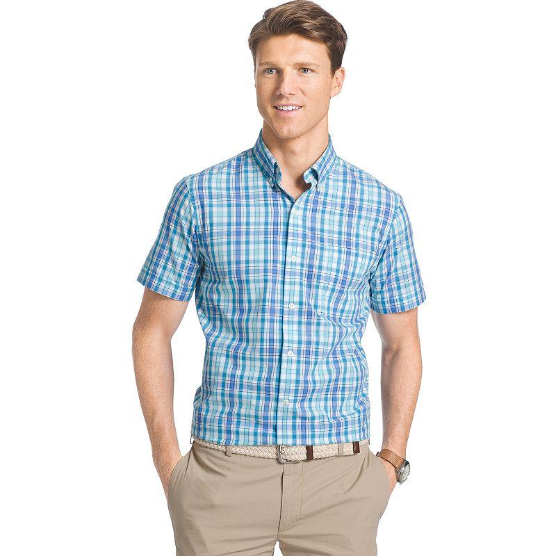 Men's IZOD Saltwater Plaid Button-Down Shirt