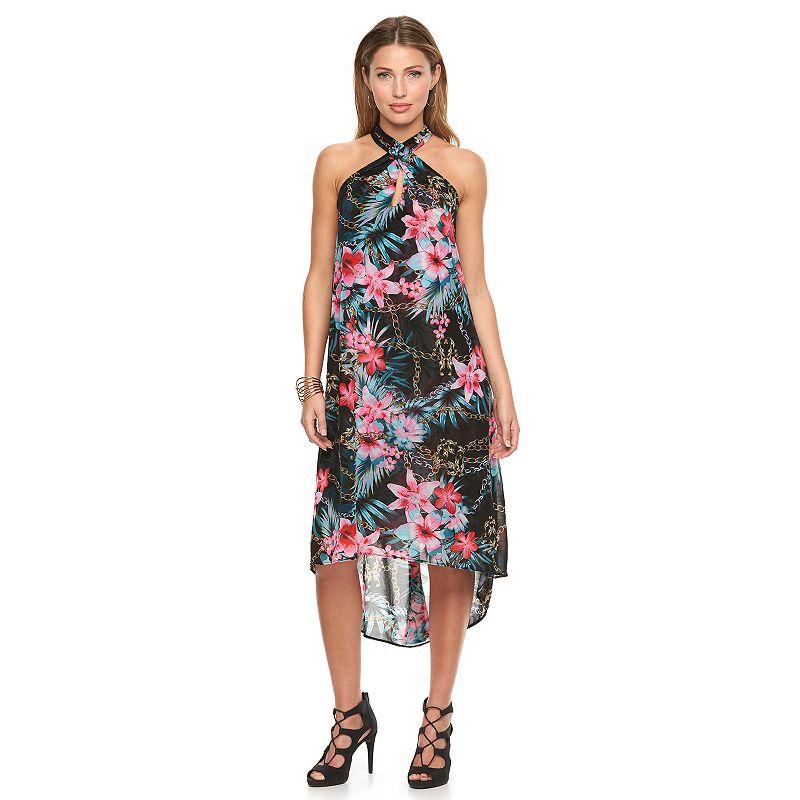 Women's Jennifer Lopez Cross-Front Halter Dress