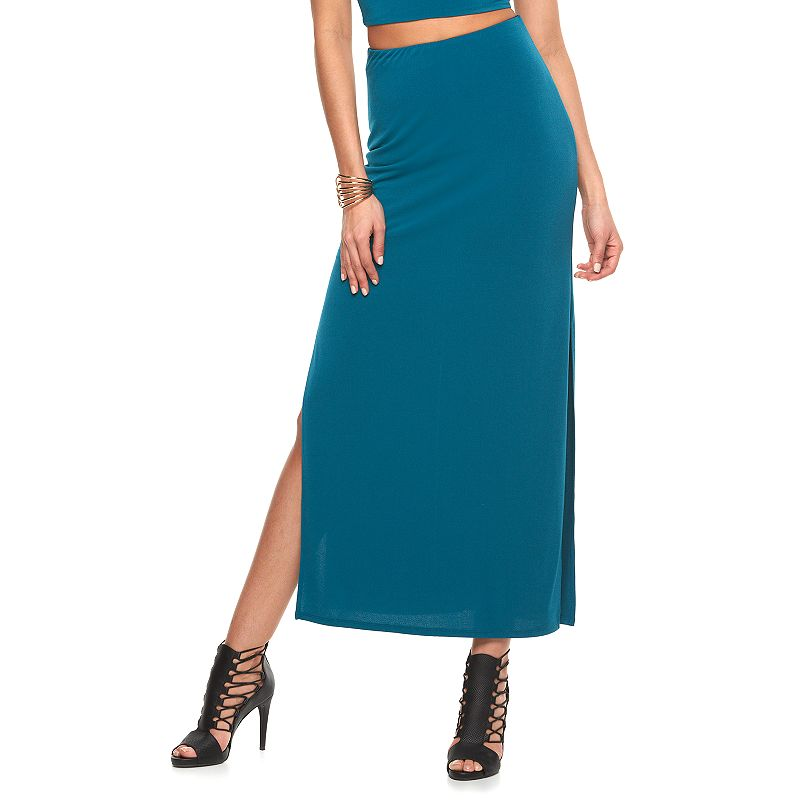 Women's Jennifer Lopez Solid Maxi Skirt