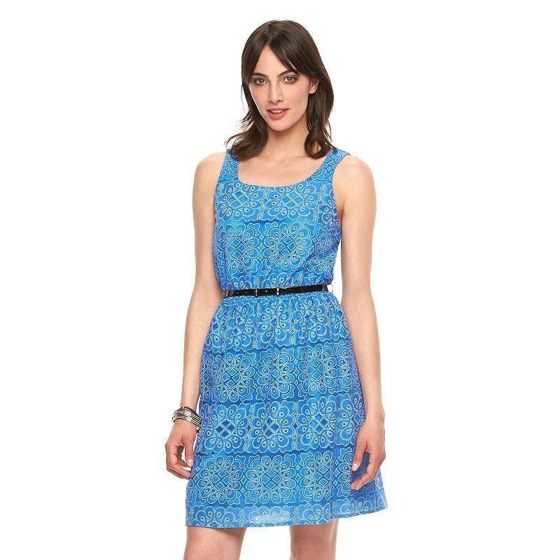 Women's ELLE™ Mosaic Mesh Fit & Flare Dress