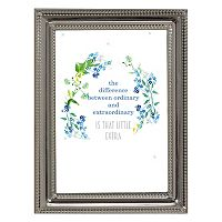Luxe Collection 5'' x 7'' Shiny Silver Finish Metal Frame