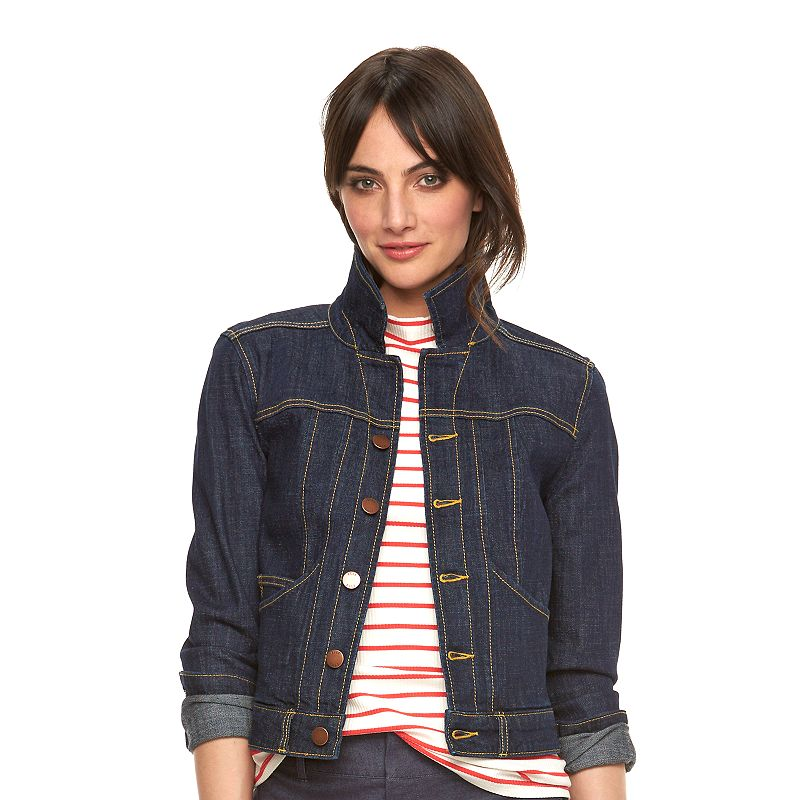 Women's ELLE™ Contrast Stitch Jean Jacket