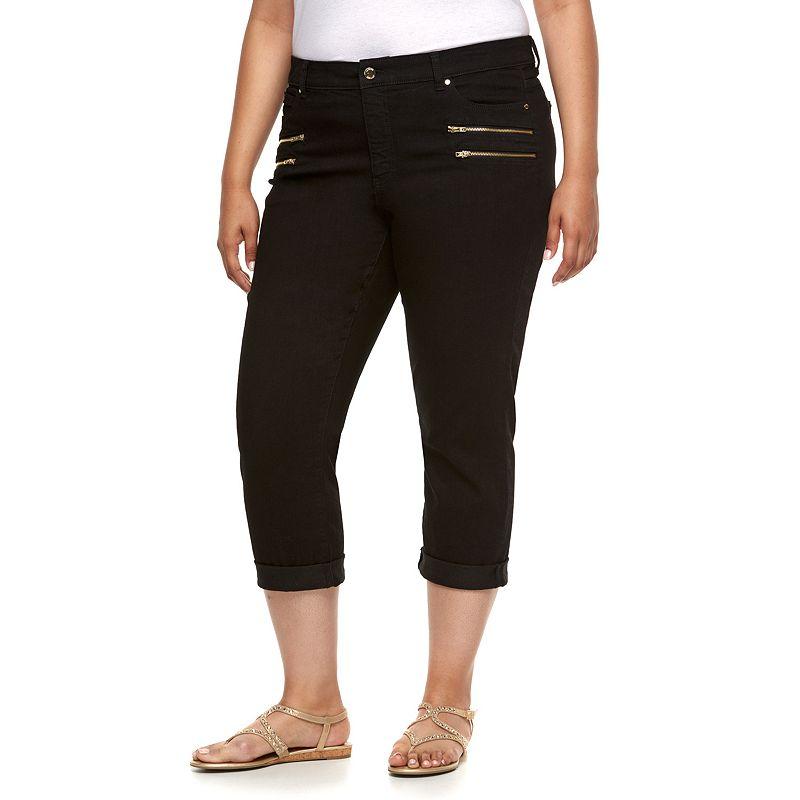Plus Size Jennifer Lopez Modern Fit Cuffed Skinny Capri Jeans