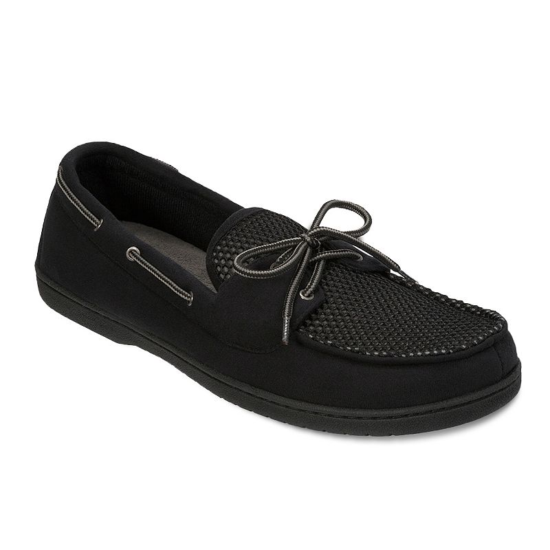 Men's Dearfoams Boater Mesh Moccasin Slippers