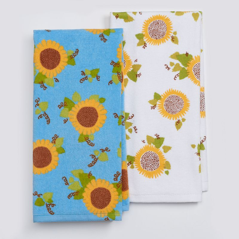 Celebrate Fall Together Home Grown Sunflower Kitchen Towel 2-pk.