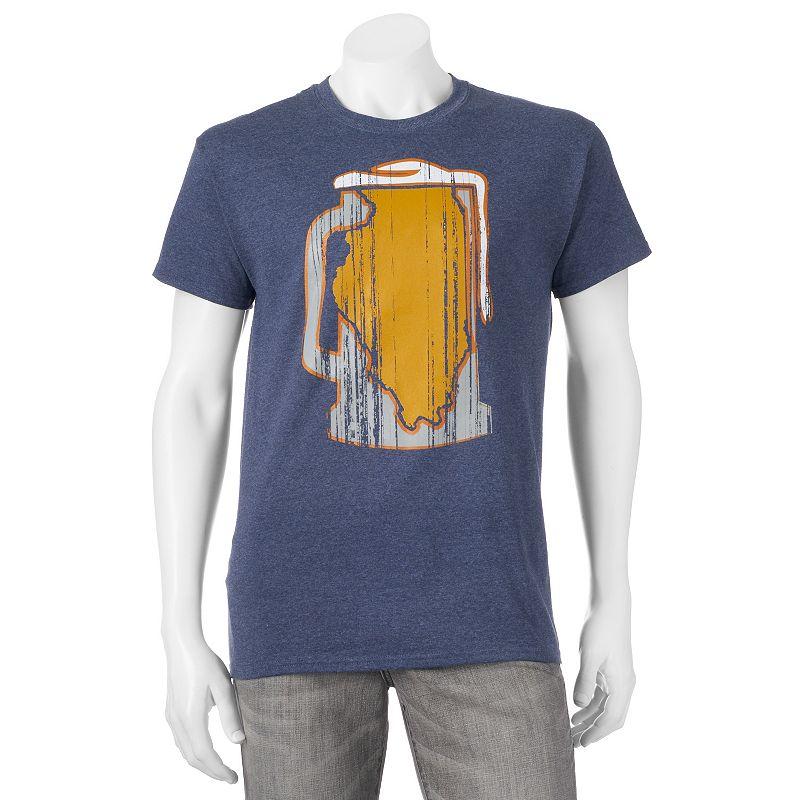 Men's Illinois Beer Mug Tee