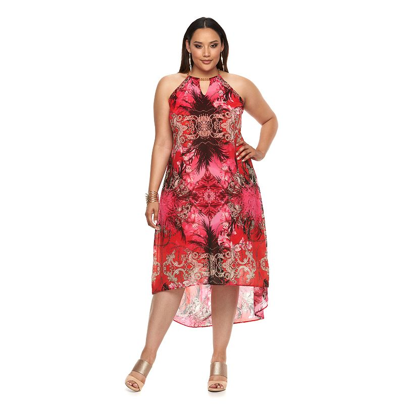 Plus Size Jennifer Lopez Embellished Mesh Maxi Dress
