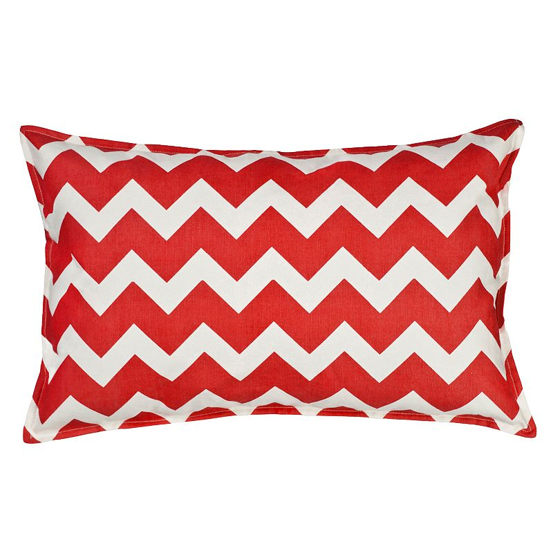 Greendale Home Fashions Chevron Oblong Throw Pillow DealTrend