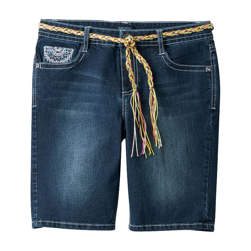 Girls' Plus Size Squeeze Colorburst Bermuda Shorts