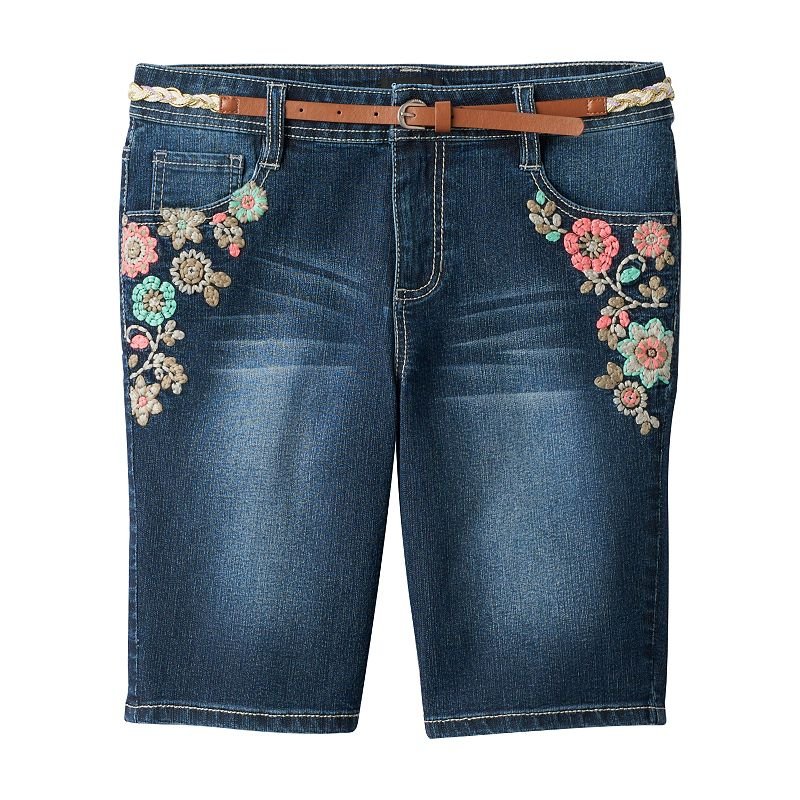 Girls' Plus Size Squeeze Floral Bermuda Shorts