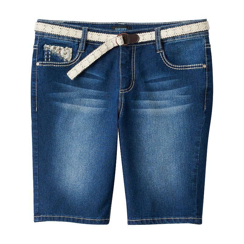 Girls' Plus Size Squeeze Embellished Bermuda Shorts