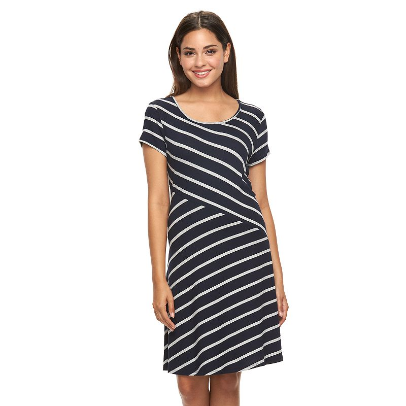 women 39 s ab studio spliced stripe shift dress
