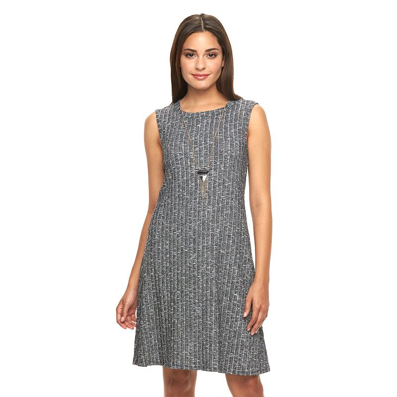 Women's AB Studio Ribbed Swing Dress