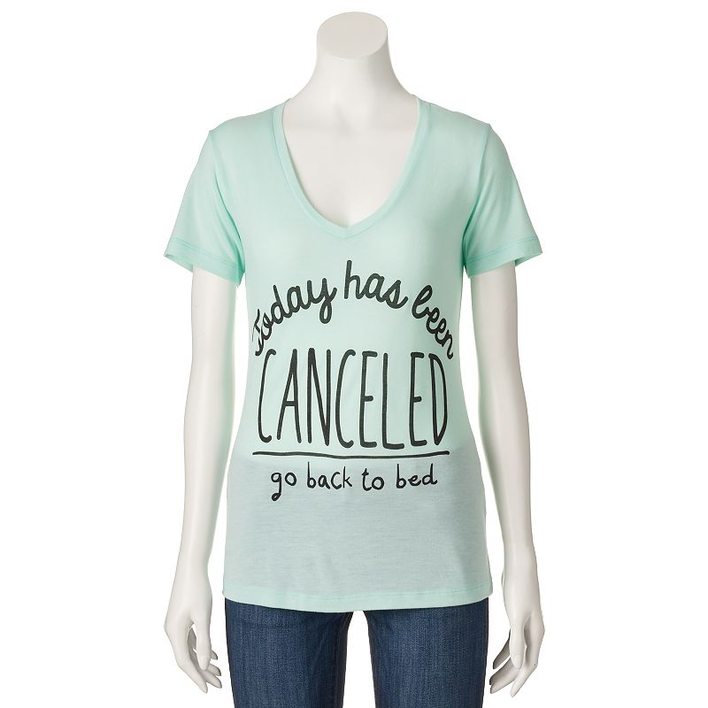 Juniors' Mighty Fine ''Today Has Been Canceled'' T-Shirt