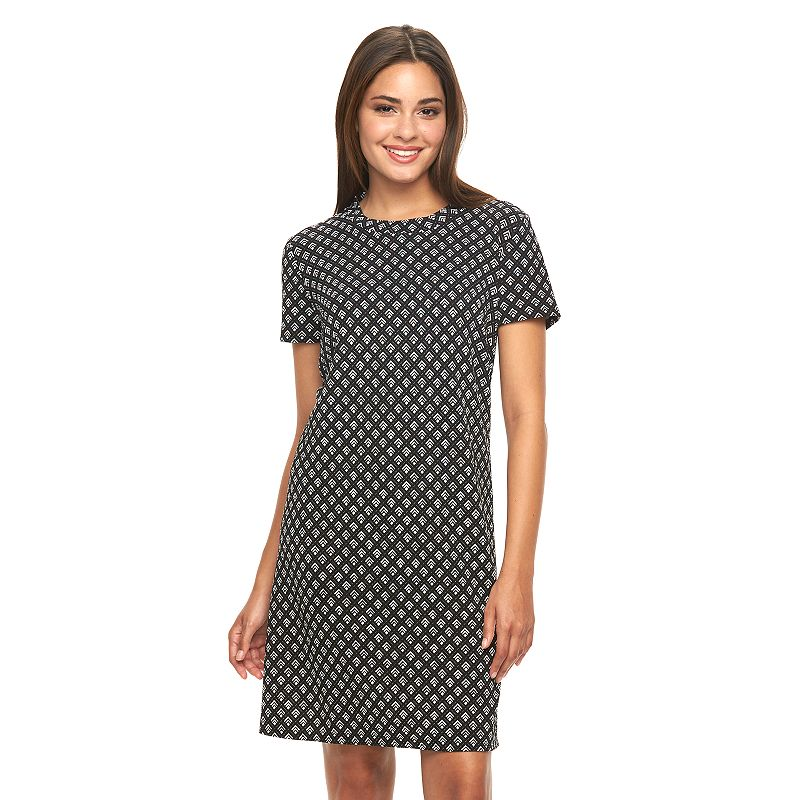 Women's AB Studio Geometric Shift Dress