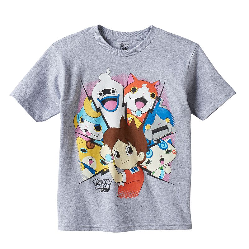 Boys 4-7 Yo-Kai Watch Gray Graphic Tee