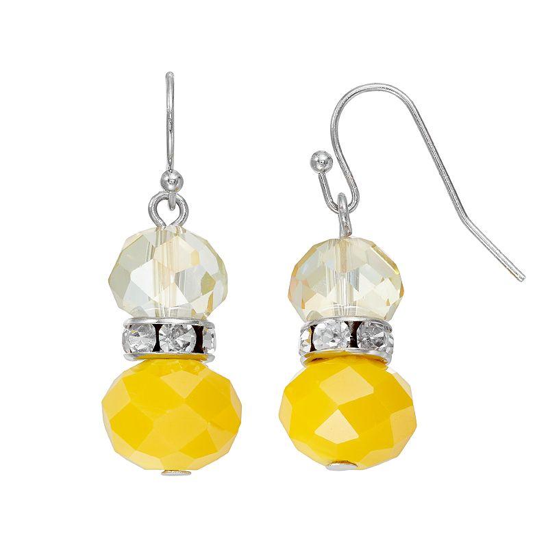 Simply Vera Vera Wang Yellow Beaded Drop Earrings