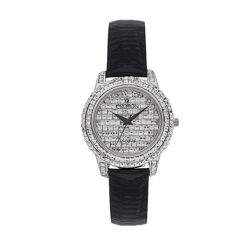 Croton Women's Balliamo Austrian Crystal Leather Watch - CN207544BSPV