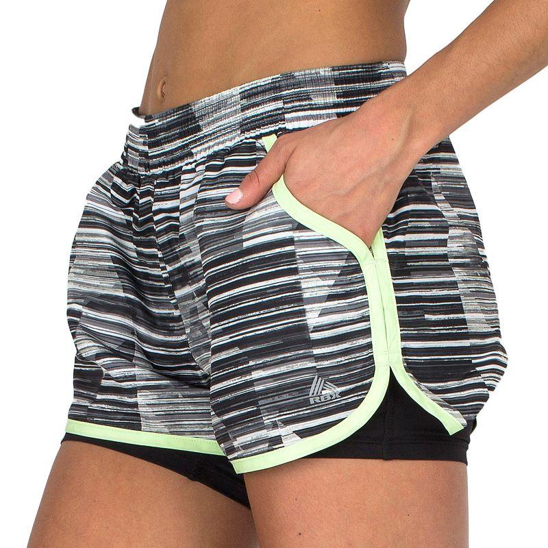 Women's RBX Tech Printed 2-N-1 Running Shorts