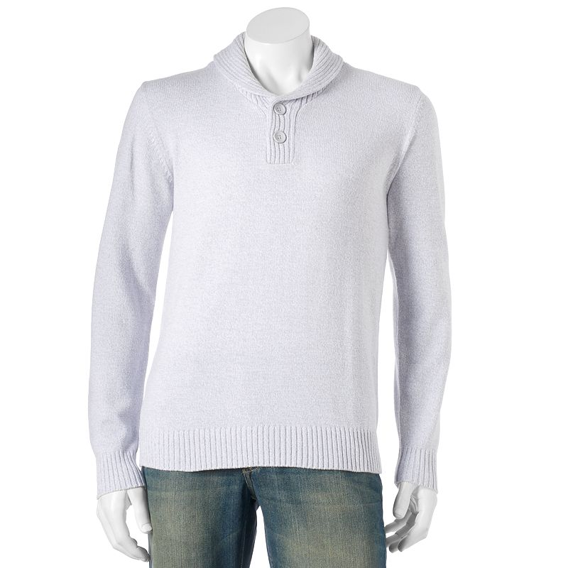 Men's Method Classic-Fit Twisted Yarn Shawl-Collar Sweater