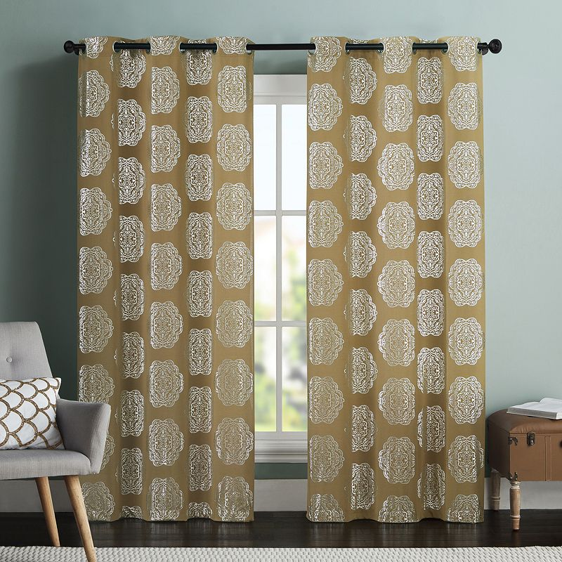 vcny 2 pack maytra medallion curtains