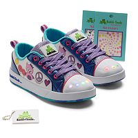 Bobbi-Toads Staci Girls' Light-Up Sneakers with Stickers