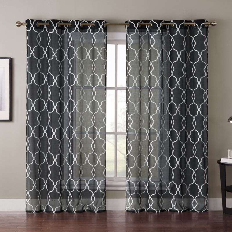 Lush Decor Geo Trellis 2 Pack Curtain Panel