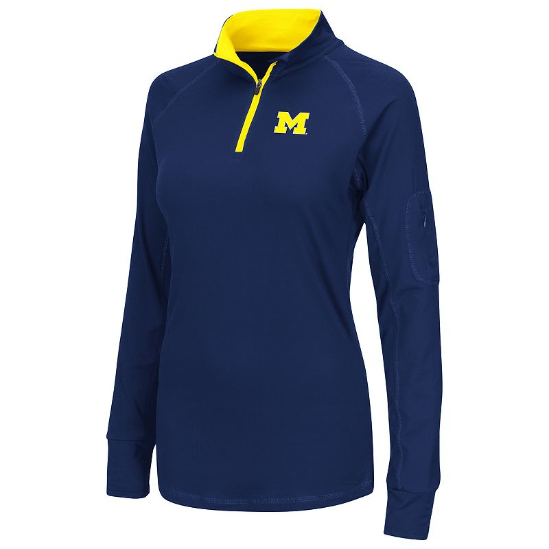Women's Campus Heritage Michigan Wolverines Prime 1/4-Zip Pullover