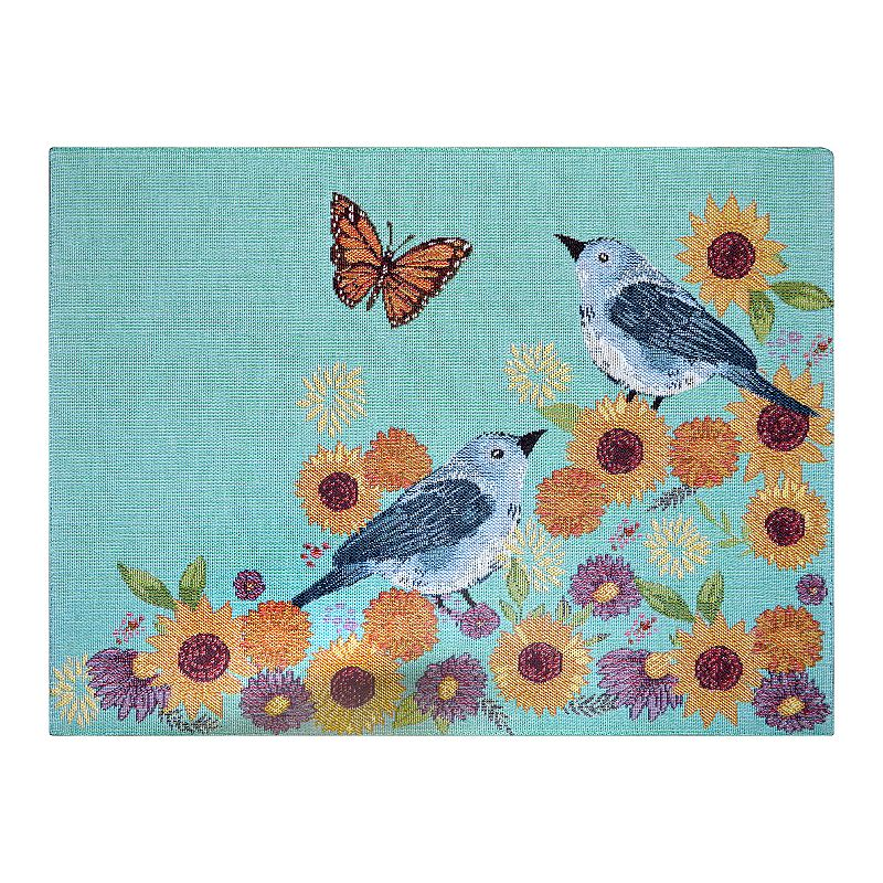 Celebrate Fall Together Sunflower & Birds Placemat