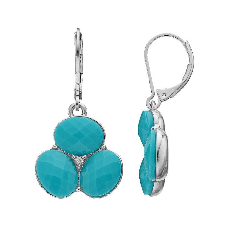 Dana Buchman Cluster Drop Earrings