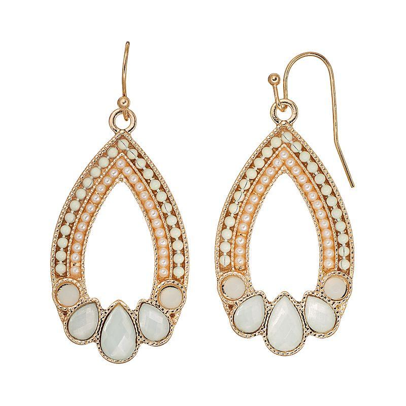 C.O. & Co. Openwork Teardrop Earrings