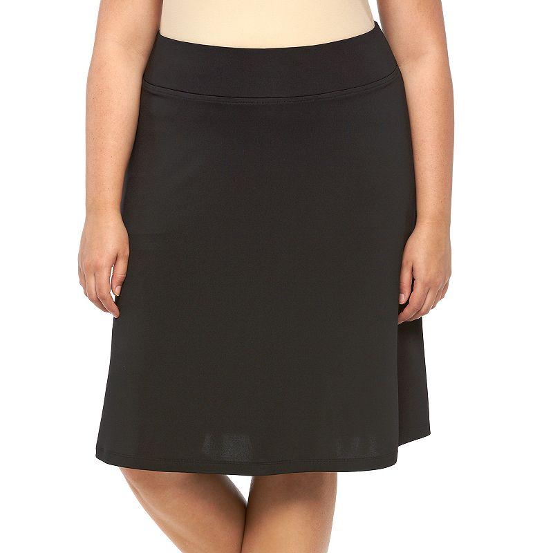 Plus Size Dana Buchman Solid A-Line Skirt