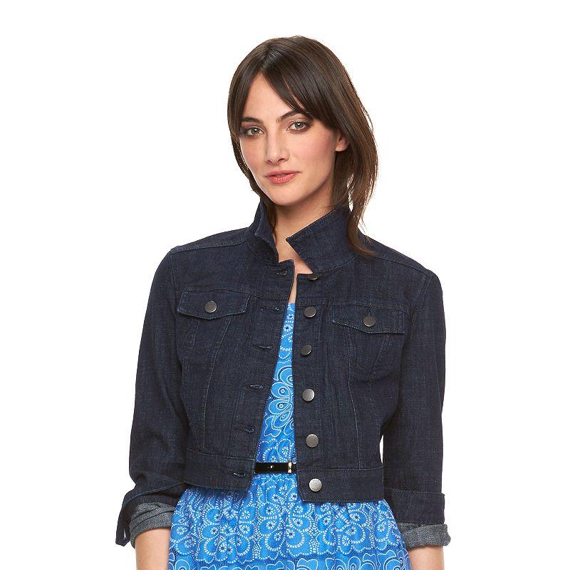 Women's ELLE™ Cropped Jean Jacket