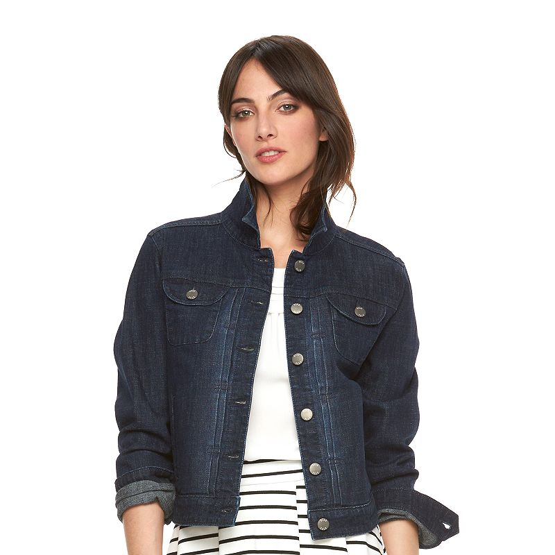 Women's ELLE™ Pintuck Jean Jacket