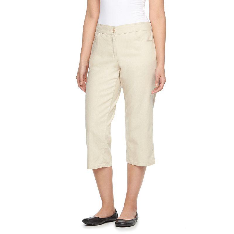 Women's Dana Buchman Linen Crop Pants