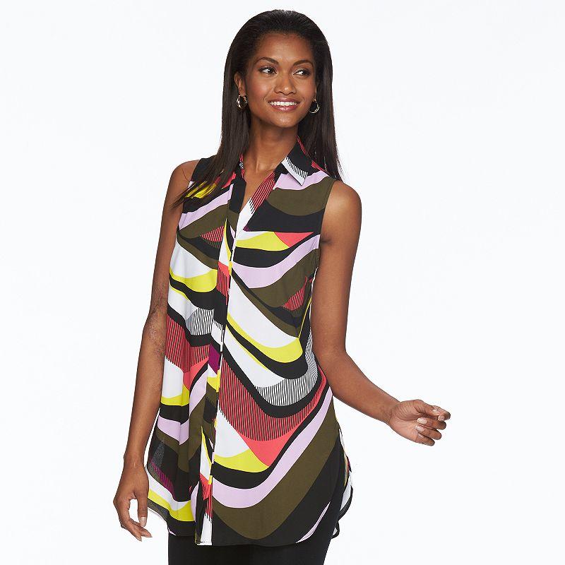 Women's Dana Buchman Print Sleeveless Tunic Shirt