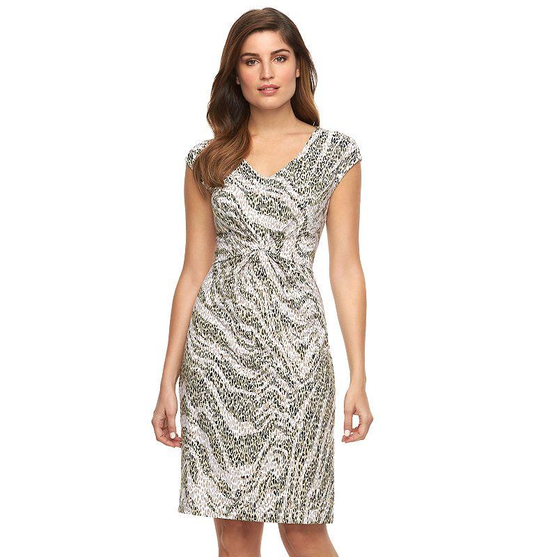 Women's Dana Buchman Print Knot-Front Dress