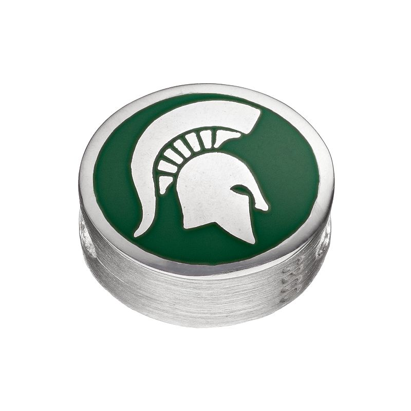 FioraSterling Silver Michigan State Spartans Bead